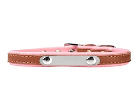 Mogoko Luxury PU Leather Pet Dog Collars,Adjustable Stainless Steel Metal Buckle Puppy Neck Collar With 4 Colors(M Fits 10.6